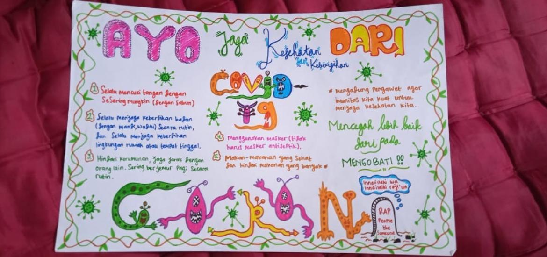 Kampanye Pencegahan Covid 19 Guru Mts Negeri 6 Bantul Tugasi Siswa Menulis Poster Kantor Kementerian Agama Kabupaten Bantul